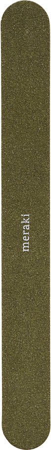 På billedet ser du variationen Neglefile, Double sided disposable manicure files - grit 150/180 fra brandet Meraki i en størrelse B: 1,9 cm. L: 17,8 cm. i farven Mørkegrøn