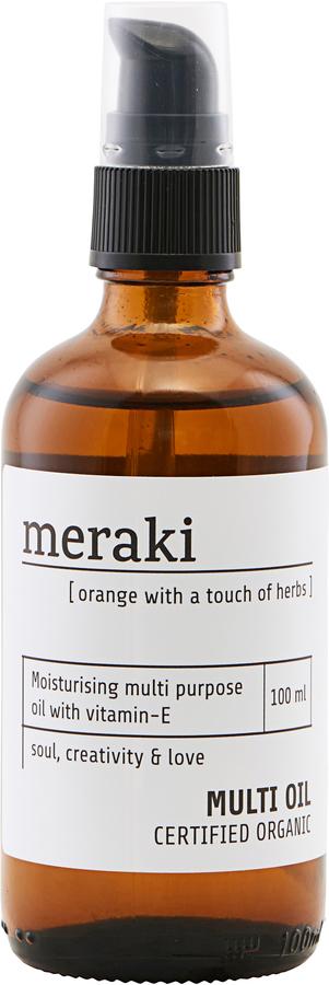 På billedet ser du variationen Olie, 100 ml. fra brandet Meraki i en størrelse 100 ML. i farven Hvid