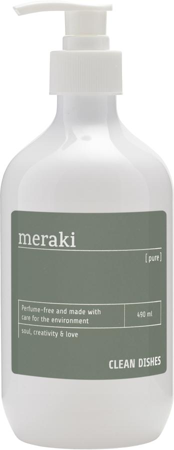 På billedet ser du variationen Opvaskemiddel, Pure fra brandet Meraki i en størrelse 490 ML. i farven Grå/Hvid