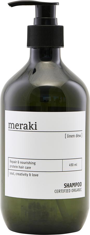 På billedet ser du variationen Shampoo, Linen dew fra brandet Meraki i en størrelse Ø: 7 cm. H: 19 cm. i farven Sort