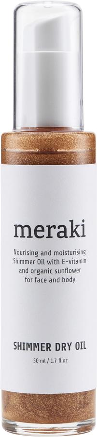 På billedet ser du variationen Shimmer dry oil, 50 ml. fra brandet Meraki i en størrelse 50 ML. i farven Hvid