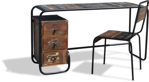 På billedet ser du variationen Skrivebord, Christiania Hip fra brandet OBUZI i en størrelse H: 74 cm. B: 140 cm. L: 45 cm. i farven Multi