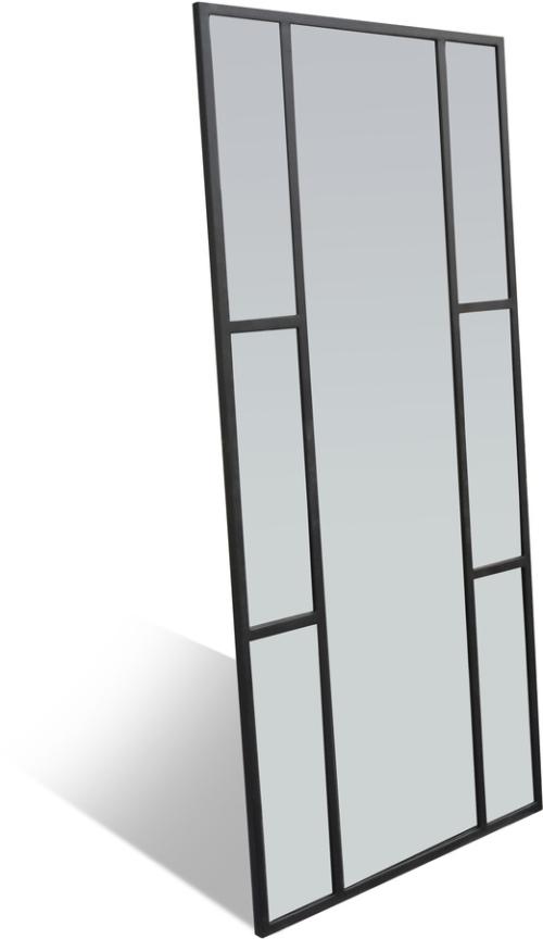 På billedet ser du variationen Spejl, Factoria fra brandet OBUZI i en størrelse H: 200 cm. B: 100 cm. L: 2,5 cm. i farven Sort