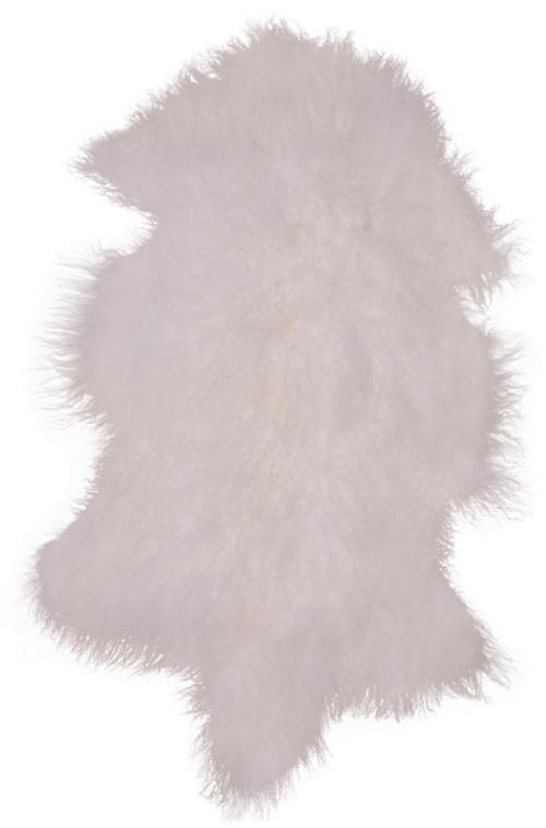 På billedet ser du variationen Mongolian, Skind fra brandet Nordby i en størrelse H: 5 cm. B: 50 cm. L: 90 cm. i farven Hvid