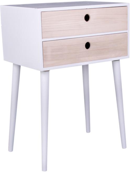 På billedet ser du variationen Rimini, Sengebord fra brandet Nordby i en størrelse H: 65,5 cm. B: 32 cm. L: 45 cm. i farven Natur/Hvid