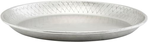 På billedet ser du variationen Bakke, Diamond fra brandet House Doctor i en størrelse Ø: 30 cm. H: 3 cm. i farven Sølv