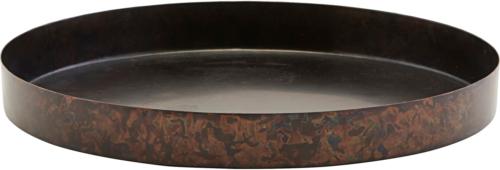 På billedet ser du variationen Bakke, Ella fra brandet House Doctor i en størrelse Ø: 20 cm. H: 2 cm. i farven Mat Jern/Sort