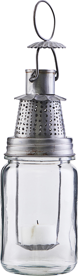 På billedet ser du variationen Lanterne, Fhia fra brandet House Doctor i en størrelse Ø: 8 cm. H: 22 cm. i farven Zink