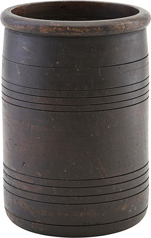 På billedet ser du variationen Opbevaring/potte, Kango fra brandet House Doctor i en størrelse Ø: 15 cm. H: 22 cm. i farven Mørkebrun