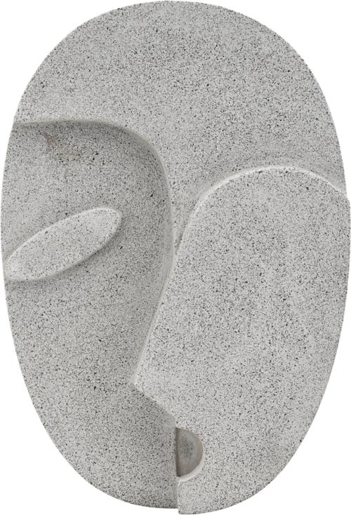 På billedet ser du variationen Wall Art, Face fra brandet House Doctor i en størrelse H: 32 cm. B: 21,8 cm. i farven Grå