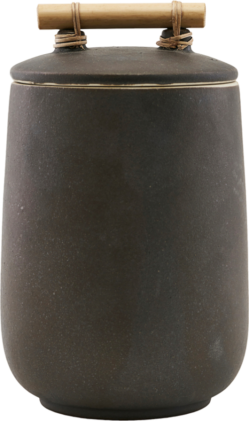På billedet ser du variationen Opbevaring M. Låg, Diva fra brandet House Doctor i en størrelse Ø: 12 cm. H: 20 cm. i farven Brun
