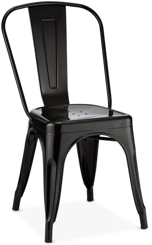 På billedet ser du et stemningsbillede (#5) fra Islay, Spisebordsstol, Industriet look, Lakeret stål fra brandet Raymond & Hallmark i en størrelse H: 85 cm. B: 43 cm. L: 51 cm. i farven Sort