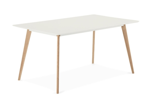 På billedet ser du et stemningsbillede (#5) fra Lane, Spisebord, Firkantet fra brandet Raymond & Hallmark i en størrelse H: 75 cm. B: 90 cm. L: 160 cm. i farven Hvid/Natur