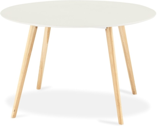 På billedet ser du et stemningsbillede (#4) fra Lane, Spisebord, Rundt fra brandet Raymond & Hallmark i en størrelse H: 75 cm. B: 120 cm. L: 120 cm. i farven Hvid/Natur