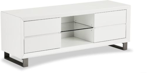 På billedet ser du et stemningsbillede (#7) fra Ireby, TV-bord fra brandet Raymond & Hallmark i en størrelse H: 55 cm. B: 150 cm. i farven Hvid
