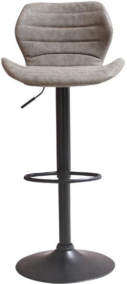 På billedet ser du variationen Bola, Barstol, Læder fra brandet House of Sander i en størrelse H: 108 cm. B: 48 cm. L: 46 cm. i farven Grå