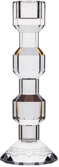 På billedet ser du variationen Iris, Lysestage, Glas fra brandet House of Sander i en størrelse H: 18 cm. i farven Hvid