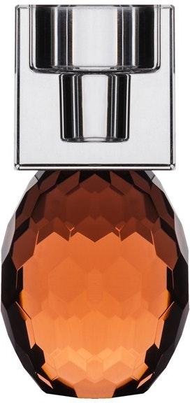 På billedet ser du variationen Bellis, Lysestage, Glas fra brandet House of Sander i en størrelse H: 12 cm. B: 6 cm. L: 6 cm. i farven Orange