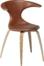 På billedet ser du variationen Flair, Spisebordsstol, Egetræsben, Læder fra brandet DAN-FORM Denmark i en størrelse H: 81 cm. B: 64 cm. i farven Brun/Natur