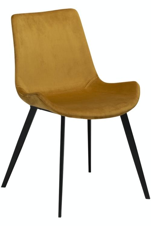 På billedet ser du variationen Hype, Spisebordsstol, Fløjl fra brandet DAN-FORM Denmark i en størrelse H: 80 cm. B: 52 cm. i farven Okker/Sort