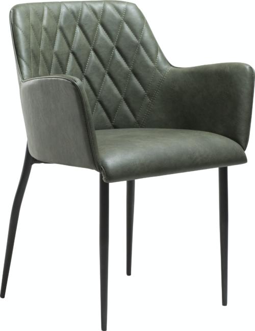 På billedet ser du variationen Rombo, Spisebordsstol, Kunstlæder fra brandet DAN-FORM Denmark i en størrelse H: 80 cm. B: 56 cm. i farven Grøn/Sort