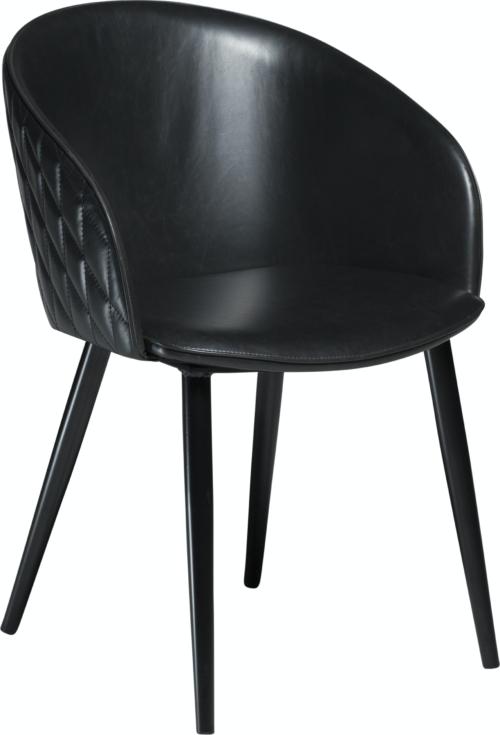 På billedet ser du variationen Dual, Spisebordsstol, Kunstlæder fra brandet DAN-FORM Denmark i en størrelse H: 80 cm. B: 57 cm. i farven Sort
