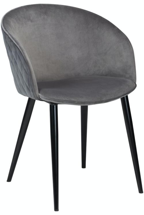 På billedet ser du variationen Dual, Spisebordsstol, Fløjl fra brandet DAN-FORM Denmark i en størrelse H: 80 cm. B: 57 cm. i farven Grå/Sort