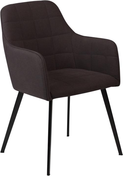 På billedet ser du variationen Embrace, Spisebordsstol med armlæn, Stof fra brandet DAN-FORM Denmark i en størrelse H: 84 cm. B: 55 cm. i farven Sort
