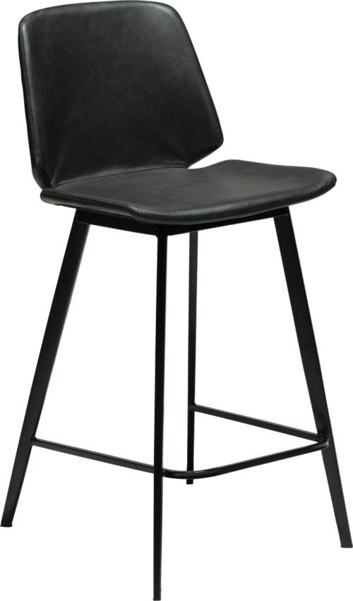 På billedet ser du variationen Swing, Barstol, Kunstlæder fra brandet DAN-FORM Denmark i en størrelse H: 94 cm. B: 47 cm. i farven Sort