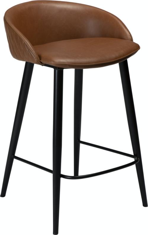På billedet ser du variationen Dual, Barstol, Kunstlæder fra brandet DAN-FORM Denmark i en størrelse H: 81 cm. B: 49 cm. i farven Brun/Sort