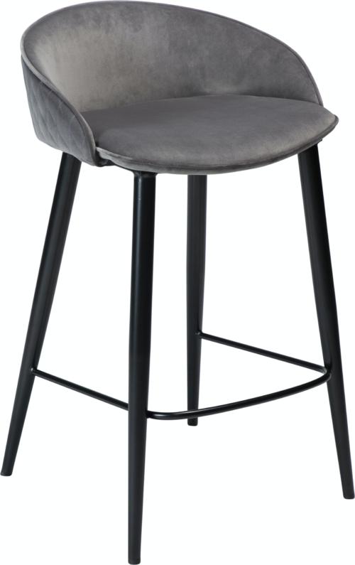 På billedet ser du variationen Dual, Barstol, Fløjl fra brandet DAN-FORM Denmark i en størrelse H: 81 cm. B: 49 cm. i farven Grå/Sort