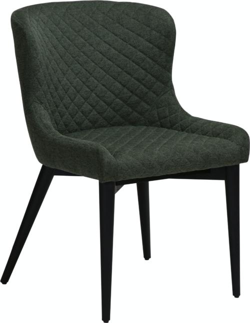 På billedet ser du variationen Vetro, Spisebordsstol, Stof fra brandet DAN-FORM Denmark i en størrelse H: 80 cm. B: 50 cm. L: 61 cm. i farven Grøn