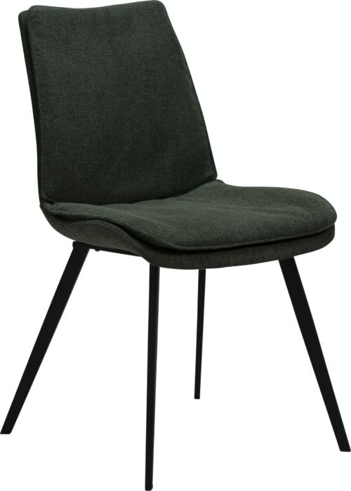 På billedet ser du variationen Fierce, Spisebordsstol, Stof fra brandet DAN-FORM Denmark i en størrelse H: 85 cm. B: 49 cm. L: 60 cm. i farven Grøn