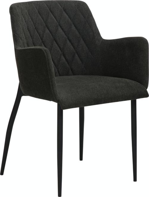 På billedet ser du variationen Rombo, Spisebordsstol, Stof fra brandet DAN-FORM Denmark i en størrelse H: 80 cm. B: 56 cm. L: 51 cm. i farven Sort
