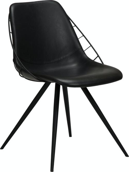 På billedet ser du variationen Sway, Spisebordsstol, Læder fra brandet DAN-FORM Denmark i en størrelse H: 80 cm. B: 51 cm. L: 61 cm. i farven Sort