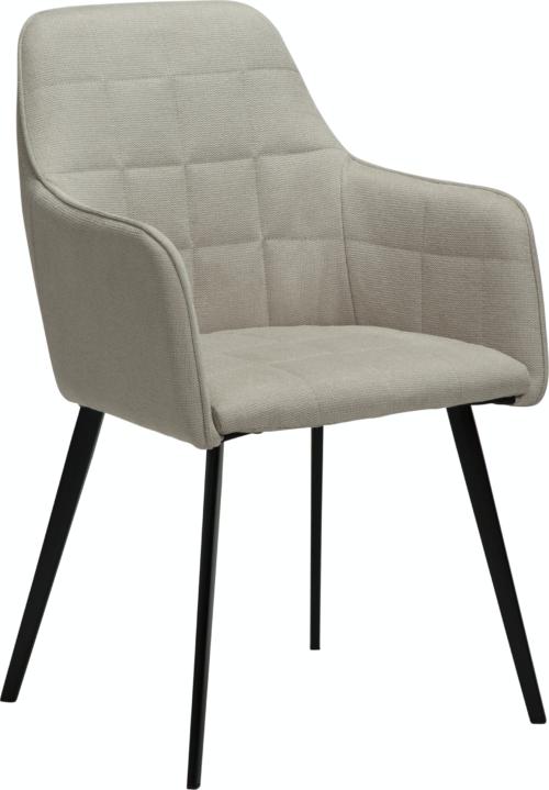 På billedet ser du variationen Embrace, Spisebordsstol med armlæn, Stof fra brandet DAN-FORM Denmark i en størrelse H: 84 cm. B: 55 cm. L: 55 cm. i farven Hvid/Beige
