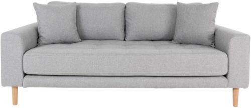 På billedet ser du variationen Lido, 2,5-personers sofa, Stof fra brandet Nordby i en størrelse H: 76 cm. B: 180 cm. L: 93 cm. i farven Lysegrå