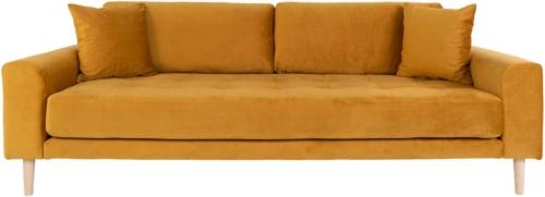 På billedet ser du variationen Lido, 3-personers sofa, Velour fra brandet Nordby i en størrelse H: 78 cm. B: 210 cm. L: 93 cm. i farven Mørkeblå
