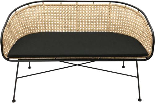 På billedet ser du variationen Grado, Sofa med hynde til udendørsbrug fra brandet Nordby i en størrelse H: 75 cm. B: 60 cm. L: 128 cm. i farven Natur/Sort