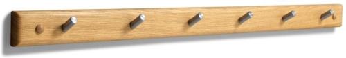 På billedet ser du variationen Meja, Knagerække, Træ fra brandet Oscarssons Möbel i en størrelse L: 80 cm. i farven Lakeret egetræ