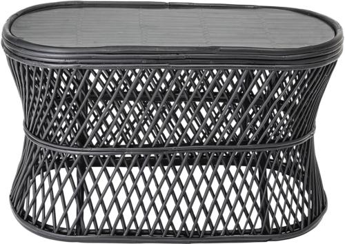 På billedet ser du variationen Nordic, Sofabord, Rude, Glas fra brandet Bloomingville i en størrelse H: 44 cm. B: 45 cm. L: 81 cm. i farven Sort
