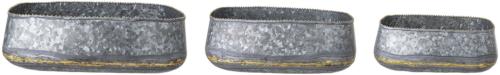 På billedet ser du variationen Cozy, Skål, Jern (sæt af 3) fra brandet Creative Collection i en størrelse Sæt á 3 stk. i farven Sølv