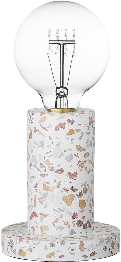 På billedet ser du variationen Nordic, Bordlampe, Terrazzo-look fra brandet Bloomingville i en størrelse D: 12 cm. H: 14 cm. i farven Natur