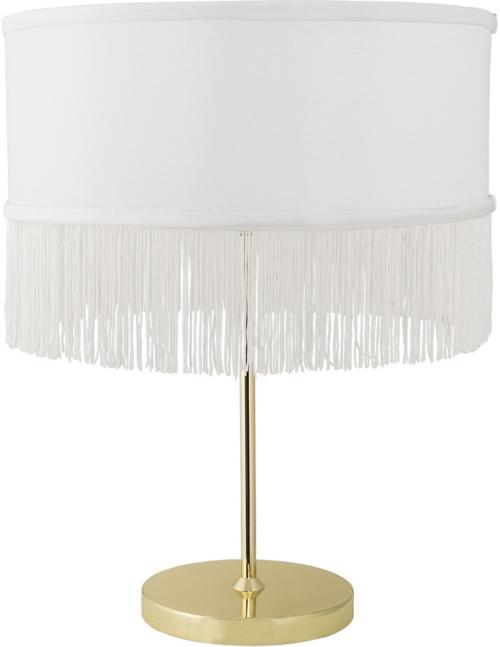 På billedet ser du variationen Nordic, Bordlampe, Guldbelagt fod fra brandet Bloomingville i en størrelse D: 35 cm. H: 45 cm. i farven Guld