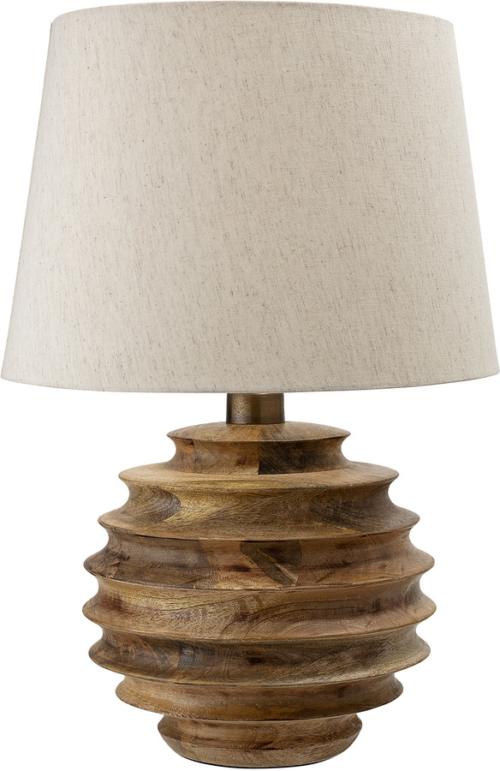 På billedet ser du variationen Cozy, Bordlampe, Mangotræ, Bomuld fra brandet Creative Collection i en størrelse D: 38,5 cm. H: 54 cm. i farven Natur