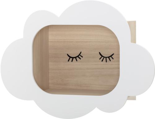 På billedet ser du variationen Mini, Display kasse, Paulowina, Børneværelset fra brandet Bloomingville i en størrelse H: 37 cm. B: 19 cm. L: 50 cm. i farven Hvid