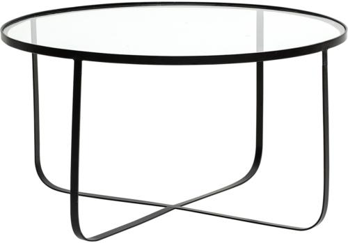 På billedet ser du variationen Nordic, Sofabord, Jern, Glas fra brandet Bloomingville i en størrelse D: 80 cm. H: 43 cm. i farven Sort
