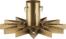 På billedet ser du variationen Juletræsfod, Star fra brandet House Doctor i en størrelse H: 20 cm. B: 47 cm. i farven Messing
