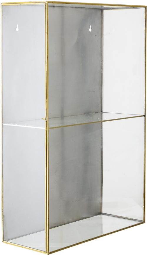 På billedet ser du variationen Nordic, Udstillingsskab, Glas fra brandet Bloomingville i en størrelse H: 60 cm. B: 15 cm. L: 40 cm. i farven Guld/Klar
