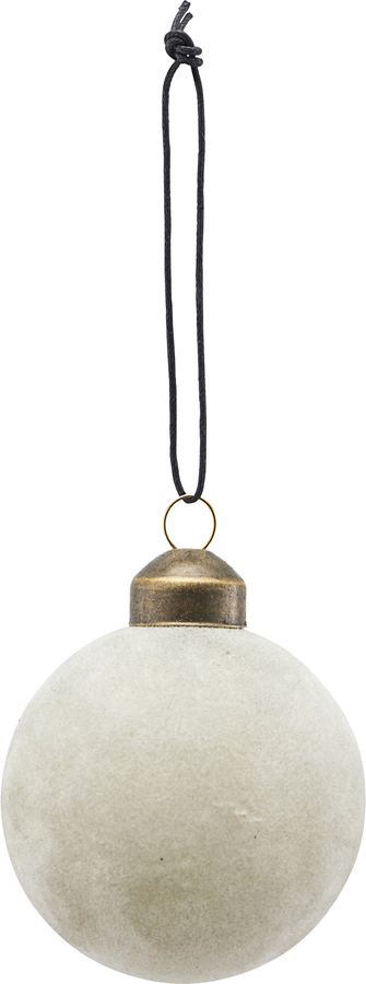På billedet ser du variationen Ornament, Flock fra brandet House Doctor i en størrelse Ø: 5,5 cm. i farven Grå